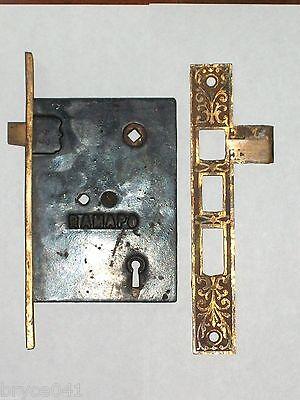 Antique Eastlake Victorian Ramapo Entry Lock With Strike 2
