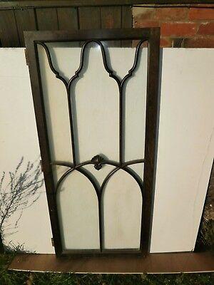 Pair of antique Cuban Mahogany astral glazed cupboard doors 7