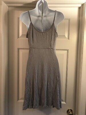 NWT Sexy Cynthia Rowley Spagetti Strap Nightgown Grey Butterflies Sz Small 5