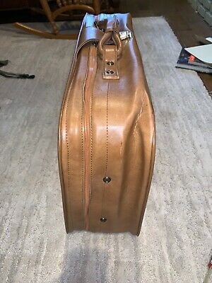 Vintage SCOVILL SUITCASE Tan Faux Leather (3) Piece Luggage 12