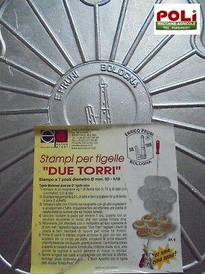 Tigelliera Stampo Tigelle Originale Le Due Torri In Alluminio 7 Posti