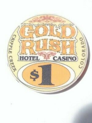 Gold Rush Casino Cripple Creek, Colorado $1.00 Chip Great For Collection Rare! 2