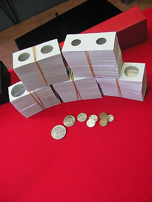 "100- QUARTER Size- 2X2 ""COWENS"" -Cardboard/Mylar Coin Holders- Free shipping! 2"