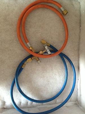 Propane Lpg Tank Gas Adaptor Hose For Refrigeration A/c Orange Hose Only 3