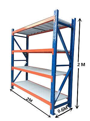 New 2M Garage Warehouse Steel Storage Shelving Shelves Racking Racks Blue 4
