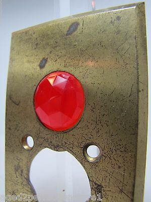 Antique Architectural Red Jeweled Glass Electrical Switch Cover Outlet Hardware 6