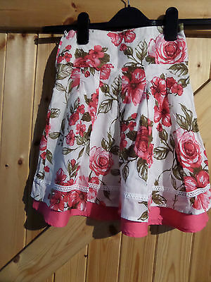 """Girls Skirt By Next Pink Rose Age 5 Years Height 110 cm Waist 20"""" Length 16"""" 3"""