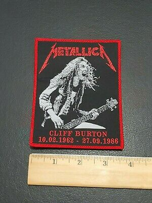 Metallica Band Cliff Burton patch t-shirts, Jeans Iron on Clothing Woven Badge 2