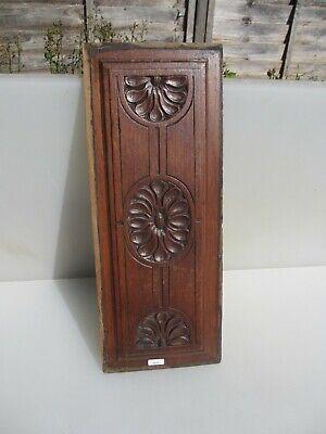 "Antique Wooden Panel Plaque Sign Vintage Old Floral Flowers Victorian 19""x7"" 4"