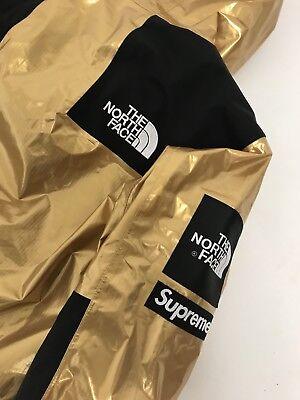 67836acab SUPREME X TNF North Face Mountain Parka Metallic Gold Jacket Coat Large BNWT