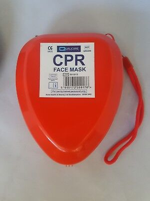 CPR Resus Pocket Face Mask In Plastic Case With Carry Bag *FREE PRINTING* 6