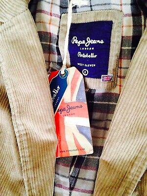 bfe4edd447c8 ... 3Livraison gratuite Pepe Jeans Veste Velours Femme Beige Taille S Neuf  Avec Etiquette 2