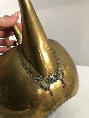 Vintage Art & Crafts Handmade Brass Kettle Range Aga Teakettle 6