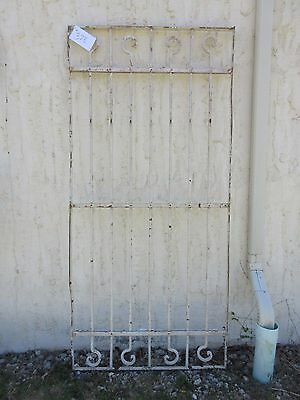 Antique Victorian Iron Gate Window Garden Fence Architectural Salvage Door #378 5