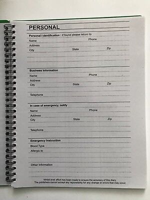2018 Dated Day Planner Calendar Appointment Book MONTHLY GRAY 5X8