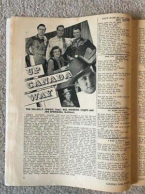 December 1952 COUNTRY SONG ROUNDUP Magazine - Eddy Arnold/Kitty Wells/Ray Price 5