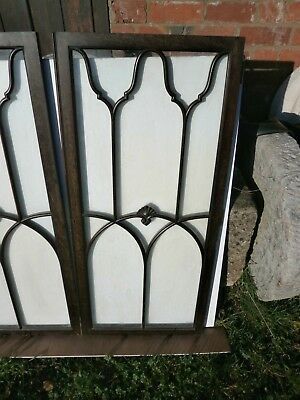 Pair of antique Cuban Mahogany astral glazed cupboard doors 3