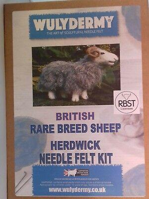 Herdwick British Rare Breeds sheep  needle felt kit  UNBOXED WULYDERMY 3