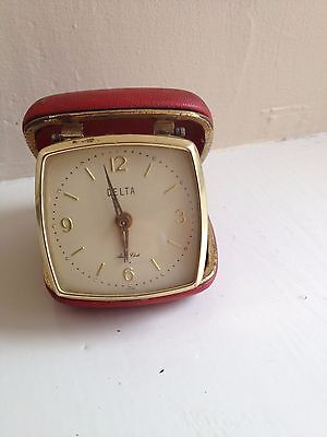 Vintage Travel Alarm Clock For Repair  , Delta Winds And Ticks