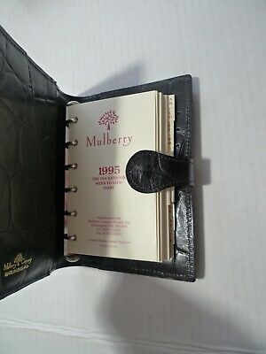 Mulberry-  Pocket Book Leather  Planner- Congo- 1995 New Old Stock --Made In Uk 6