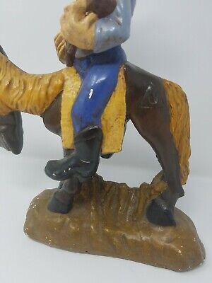 Vintage Gres Divertido Singer Cowboy Equitación Caballo Estatua Decoración Hogar 5