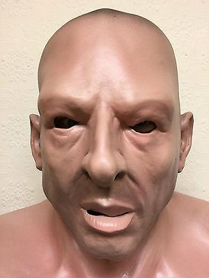 REALISTICO UOMO testa calva Hard Man CRIMINALE Soldato Umano MASCHERA LATEX 4