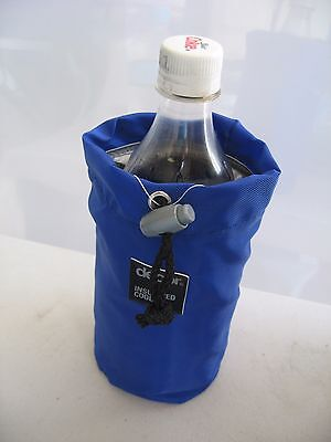12 x DECOR 600ml DRINK BOTTLE COOLERS, BLUE & GREEN