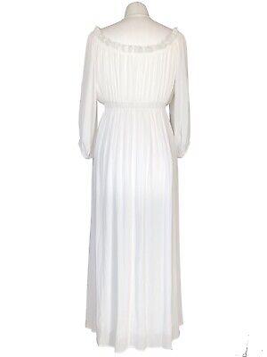 Off White Long Boho Peasant Jane Austen Regency Gypsy Maxi Wedding Pirate Dress 2