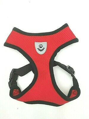 Pet Control SMALL Dog Harness Soft DOUBLE Mesh Walk Collar Safety Strap Vest XS 8