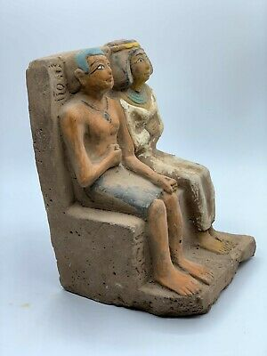 ANCIENT EGYPTIAN EGYPT ANTIQUES STATUE Akhenaten and Nefertiti 1345–1337 BCE -R 5