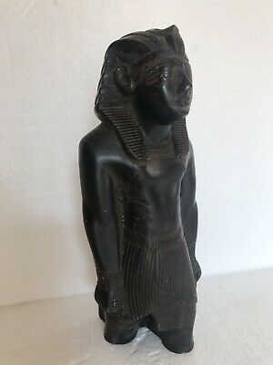ANCIENT EGYPTIAN ANTIQUE Bronze Pharoh Signed Adele 4