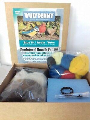 Needle felting kit British Birds British wool Unboxed 7
