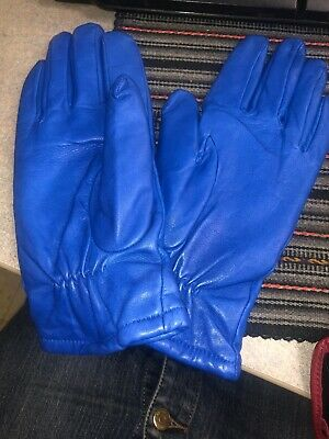 Women's Blue Gloves Wilson Leather Size L New With Tag 10