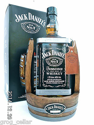 Jack Daniels 1.75L Timber Cradle 2014 Complete With Bottle/Boxed -RARE!!!!!!! 2