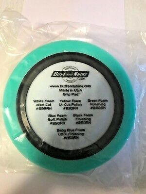 "Yellow Foam Pad 631RH Buff and Shine/'s Center Ring 7.5/"" Hex-Face Finish"