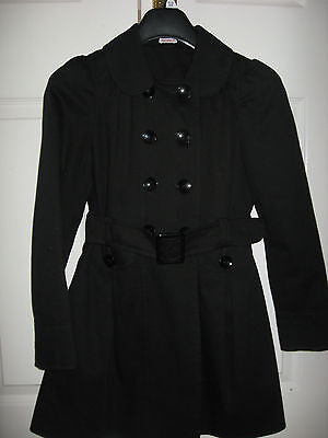 New Girls Clothes Black School Uniform Coat Fashion Double Breasted 15-16 Years 5