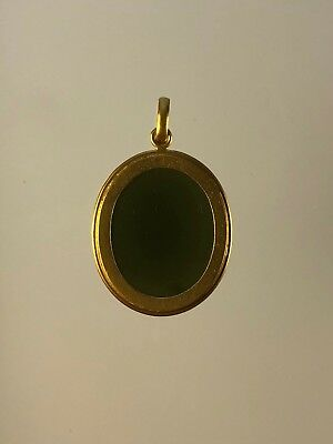 Antique Islamic Rare Green Yemen Agate Stone with 18 K Solid Pendant Frame 5