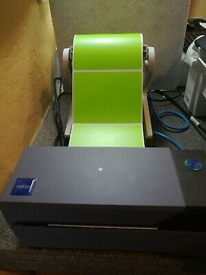 4X3 GREEN DIRECT Thermal Color Labels, Roll of 250