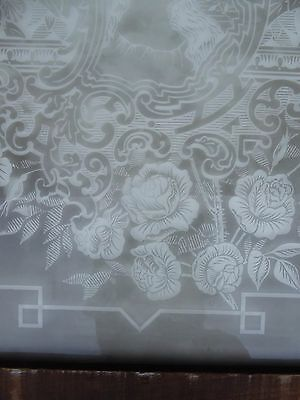 Victorian - Antique - Vintage Etched Glass Window - Circa 1890 3