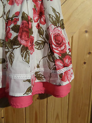 """Girls Skirt By Next Pink Rose Age 5 Years Height 110 cm Waist 20"""" Length 16"""" 5"""