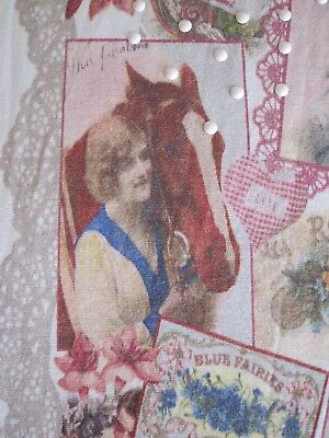 Rare! Vtg 20s Flapper Pinup Lady Kitten Cat Horse Floral Lace Print Mini Dress 5