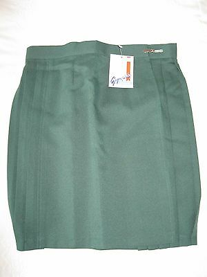 "GYMPHLEX Girls/Ladies BOTTLE GREEN School Gym Kilt/Skirt W34"" 16+ yrs- NEW! 2"