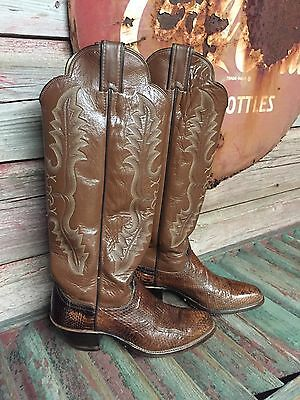 a1ba19a0dca WOMEN'S JUSTIN SNAKE Skin Cowboy Boots Size 5.5 N Style N5490