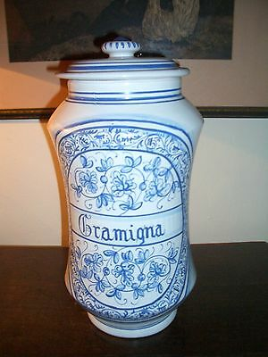 Deruta - Apotheker Vasen Majolika italienische Keramik handgemalt Paar 4