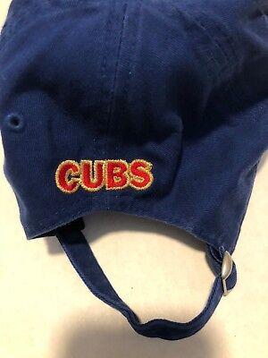 b707de92f2b ... Chicago Cubs New Era 9TWENTY Hat World Series Champions Cap Blue Baseball  MLB 3