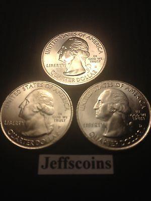 2014 P D S Arches National Park QUARTER Utah STATE US Mint ATB 3 Coin SET New BU 2