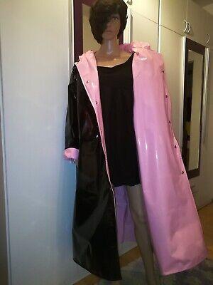 ZWEISEITLICH 2in1 PVC Regencape Lack Gummimantel Raincoat Regenmantel Vintage 10