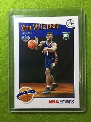 ZION WILLIAMSON ROOKIE CARD JERSEY #1 PELICANS RC 2019-20 Panini HOOPS rookie rc 6