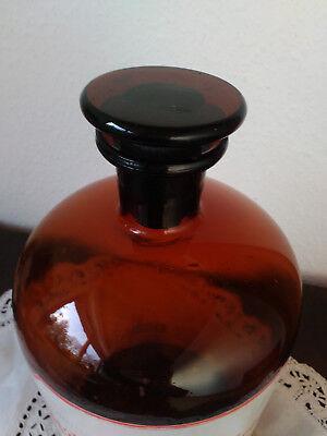 Apothekerflasche;Sol.Hydrog.peroxyd.;5 ltr.;braunglas;geschl. Stöpsel;Loft;Deco