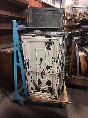 "Eighty Square Feet 24"" x 48"" Antique Tin Ceiling Tile Metal Antique Set of 6"